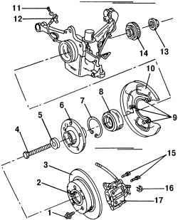 14.4 Подшипники задних колес