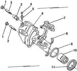 15.2.4 Разборка и сборка тормозного механизма переднего колеса