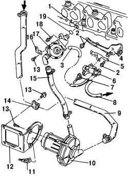 2.10.2 Система дополнительной подачи воздуха Volkswagen Sharan