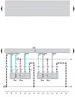 9.2 Электросхема климатической установки Climatronic 2-C (устанавливается с 05.2005) (часть 2)