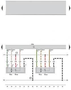 9.3 Электросхема климатической установки Climatronic 2-C (устанавливается с 05.2005) (часть 3)