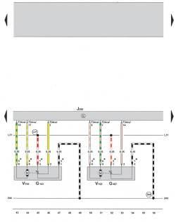 9.4 Электросхема климатической установки Climatronic 2-C (устанавливается с 05.2005) (часть 4)