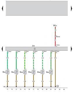 9.5 Электросхема климатической установки Climatronic 2-C (устанавливается с 05.2005) (часть 5)