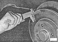 7.5 Проверка толщины тормозных дисков