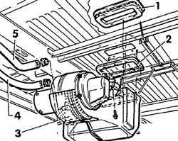 5.2.19 Снятие и установка турбонагнетателя