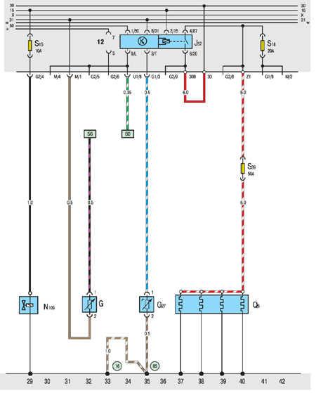 10.20.27 Дизель: система предварительного подогрева, клапан отсечки топлива